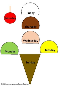 Ice Cream Days Of The Week Activity