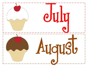 Ice Cream: Days of the Week and Months of the Year