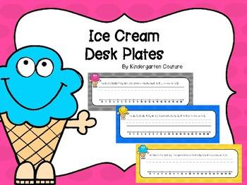 Ice Cream Desk Plates