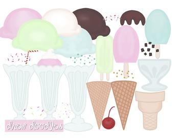 Ice Cream Digital Clip Art Set