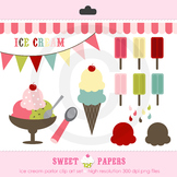 Ice Cream Digital Clip Art Set - by Sweet Papers