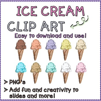 Ice Cream Digital Illustration Clip Art