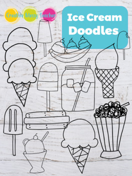 Ice Cream Doodles - Popsicles Doodles