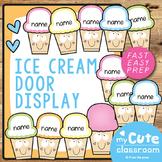 Ice Cream Door Display or Classroom Labels