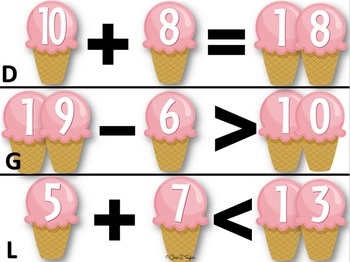 Ice Cream Dreams ~ Math & Literacy Centers for Young Learners