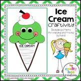 Ice Cream Craft | Summer Writing | Summer Activities | Beach Day Activities