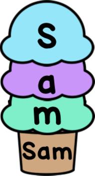 Ice Cream Editable Name Activity