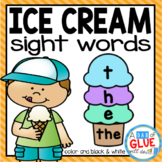 Ice Cream Editable Sight Word Activity