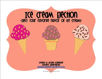 Ice Cream Election for Kindergarten