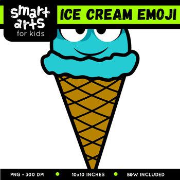 Ice Cream Emoji Clip Art