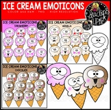 Ice Cream Emoticons Clip Art Bundle {Educlips Clipart}