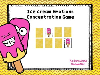 Ice Cream Emotions Concentration Game
