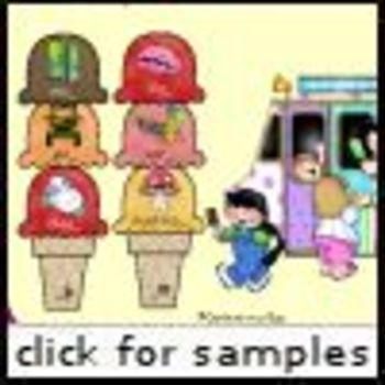 Ice Cream Ending Sounds (RF.K.2, RF.K.3, RF.1.2, RF.1.3)