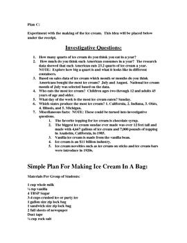 Ice Cream Experiments