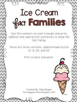 Ice Cream Fact Families