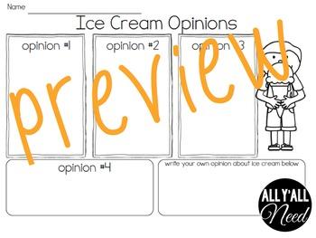 Ice Cream: Fact & Opinion