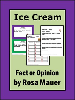 Ice Cream: Fact or Opinion