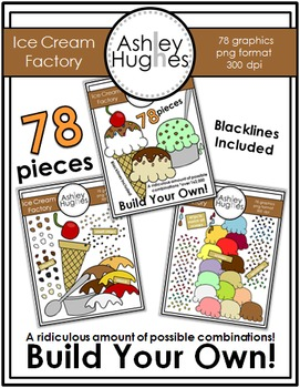 Ice Cream Factory Clipart {A Hughes Design}