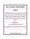 Ice Cream Facts Scavenger Hunt