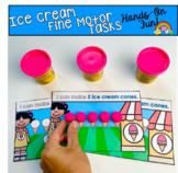 Ice Cream Fine Motor Tasks