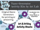 Ice Cream Flavor Generator - with Vocabulary and Art Activity