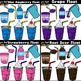 Ice Cream Float Clipart ~BUNDLE (Classroom Snack Packs 1-8)