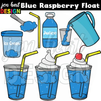 Ice Cream Float Clipart ~Blue Raspberry (Classroom Snack Pack 6)