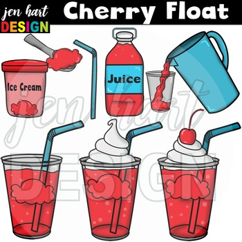 Ice Cream Float Clipart ~Cherry (Classroom Snack Pack 2)