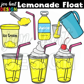 Ice Cream Float Clipart ~Lemonade (Classroom Snack Pack 4)