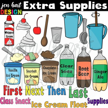 Ice Cream Float Clipart ~Lemonade (Classroom Snack Pack 4)