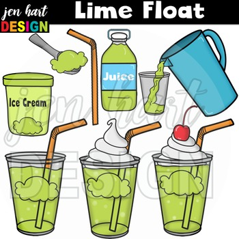 Ice Cream Float Clipart ~Lime (Classroom Snack Pack 5)