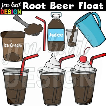Ice Cream Float Clipart ~Root Beer (Classroom Snack Pack 1)