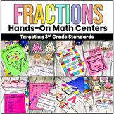 Ice Cream Fractions- 3rd Grade Fraction Bundle