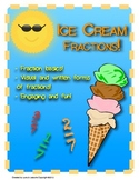 Ice Cream Fractions! Fraction skills activity - engaging -