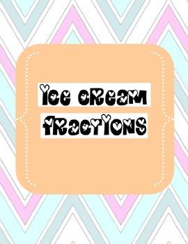 Ice Cream Fractions Handout