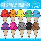 Ice Cream Friends Clipart Set