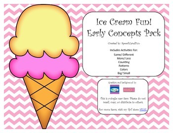 Ice Cream Fun! Early Concept Pack