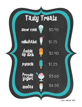 Ice Cream! Get Your Ice Cream! (money practice)