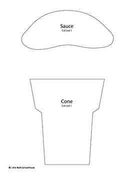 Ice Cream Glyph Craft and Worksheets