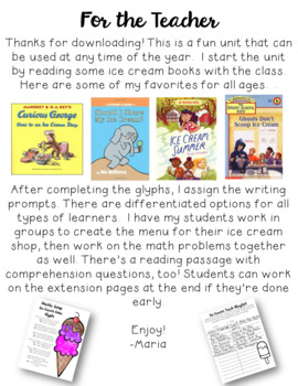 Ice Cream Glyphs and Printables