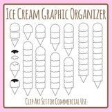 Ice Cream Graphic Organizer / Blank Treat Templates Clip Art Set Commercial Use