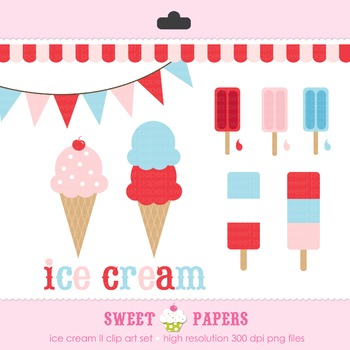 Ice Cream II Digital Clip Art Set - by Sweet Papers