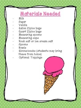 Ice Cream In-A-Bag