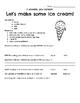 Ice Cream In A Bag Matter Lesson