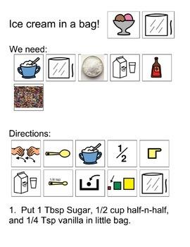 Ice Cream In A Bag Visual Recipe