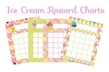 Ice Cream Incentive Reward Charts