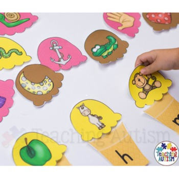 Ice Cream Initial Letter Stacking