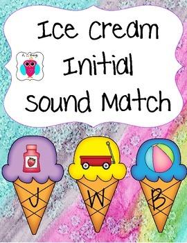 Ice Cream Initial Sound Match