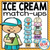 Ice Cream Initial Sound and Number Match-Up Bundle