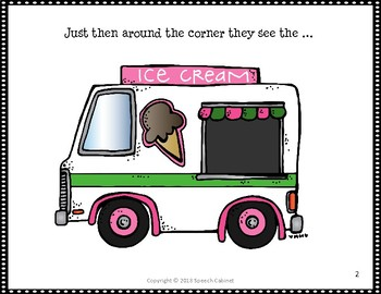 Ice Cream Interactive Storybook and Activity